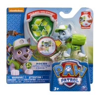 Paw Patrol Pup & Badge - Rocky
